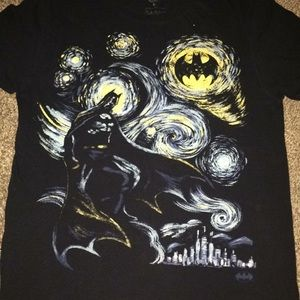DC Shirts - Bat man starry night T-shirt small and medium
